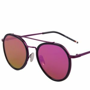 Women Aviator Sunglasses Oval Alloy Frame